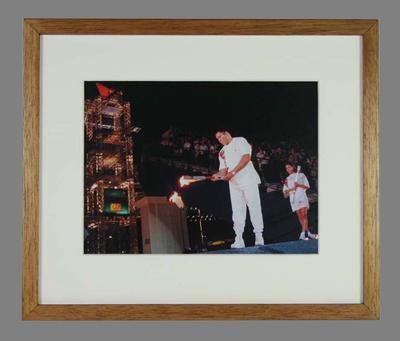 Reproduction photograph of Muhammad Ali, 1996 Atlanta Olympic Games