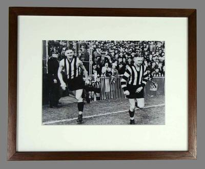Reproduction photograph Albert and Harry Collier, Collingwood Football Club