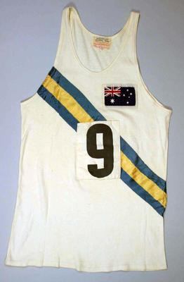 Singlet worn by Herb Elliott, Rome Olympic Games, 1960