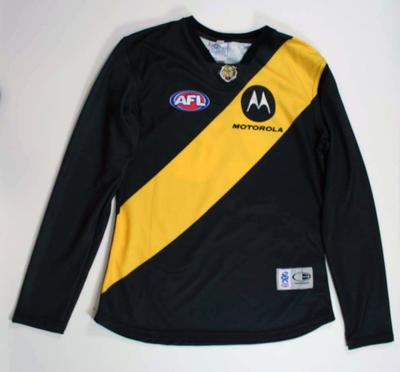Long sleeve guernsey worn by Ray Hall 1999-2006, Richmond Football Club