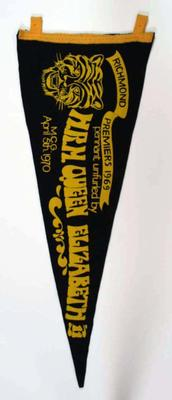 Pennant from Richmond v Fitzroy game on 5 April 1970.