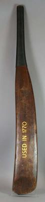 Reproduction 18th century cricket bat.