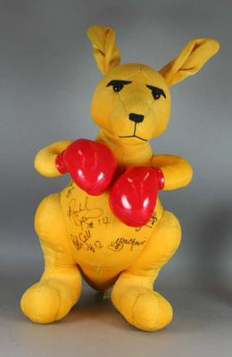 """The Boxing Kangaroo""  signed by the Opals (Australian Women's Basketball Team) 2004 Athens Olympics"