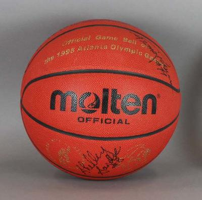 Official 1996 Atlanta Olympic Games basketball signed by the Opals