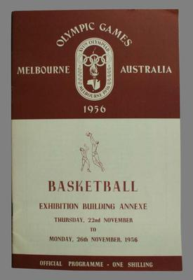 Melbourne 1956 Olympic Games Official Basketball Programme.