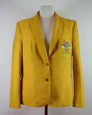 Australian Olympic Team blazer worn by Lorraine Landon, 1984 Los Angeles Olympic Games.; Clothing or accessories; 2007.417