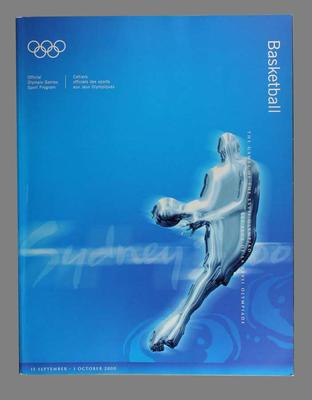 Sydney 2000 Olympic Games Official Basketball Programme.