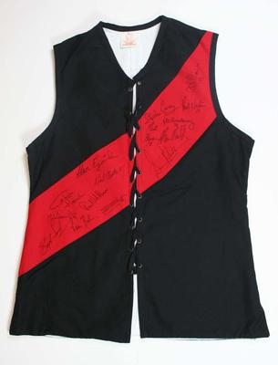 Modern Essendon Football Club jerkin signed by members of the 1984 and 1985 VFL premiership teams