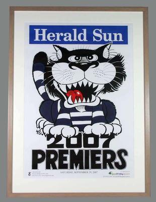 Poster - 2007 AFL Premiers Geelong Cats, artist WEG