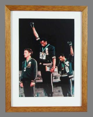 Reproduction photograph of Tommie Smith, John Carlos and Peter Norman - 1968 Olympic Games; Photography; 2007.432