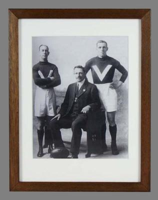Reproduction photograph, depicts two generations of the Rankin family - Edwin, Bert and Cliff Rankin