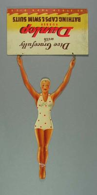 Advertisement, 'Dunlop Bathing Caps & Swim Suits' c1950s