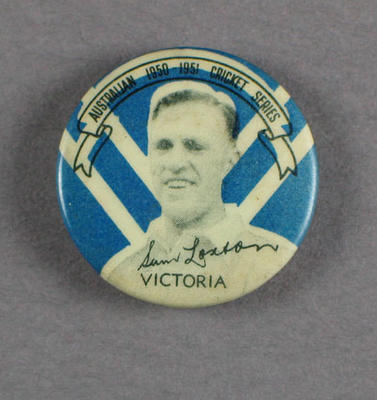 Badge, Sam Loxton c1950