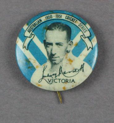 Badge, Lindsay Hassett c1950