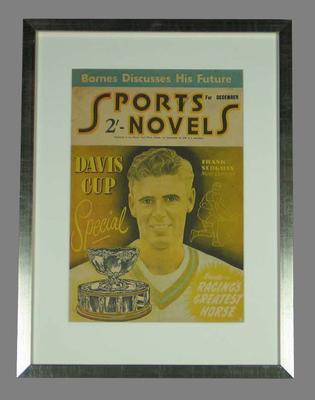 Sports Novels magazine,  December 1952,  image of Frank Sedgman on cover