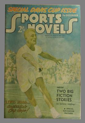 Sports Novels magazine,  December 1952,  image of Lewis Hoad on cover