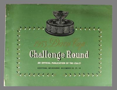 1953 Davis Cup Challenge Round programme, Kooyong, 28 - 30 December 1953.