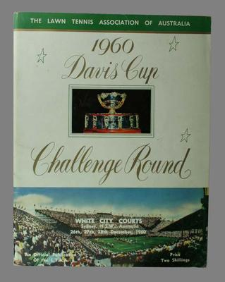 1960 Davis Cup Challenge Round programme, White City Courts, Sydney, 26-28 December 1960