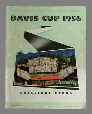 1956 Davis Cup Challenge Round programme,  Memorial Drive, Adelaide on 26, 27, 28 December 1956.