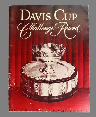 1955 Davis Cup Challenge Round programme held at West Side Tennis Club, Forest Hills, New York on 26, 27, 28 August 1955