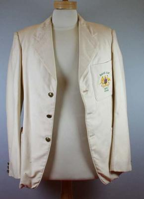 Mustard yellow double breasted woollen blazer - Davis Cup 1947, 1948 - Australia