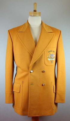 Mustard yellow double breasted woollen blazer - Davis Cup 1973, 1975 - Australia