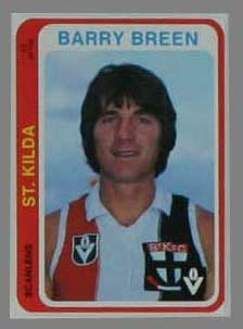1979 Scanlens (Scanlens) Australian Football Barry Breen Trade Card