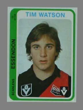 1979 Scanlens (Scanlens) Australian Football Tim Watson Trade Card