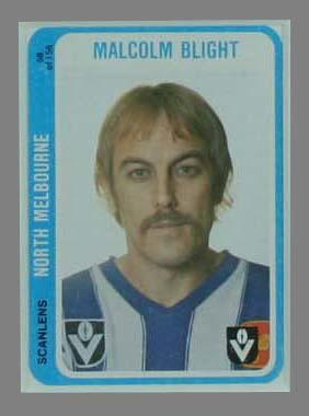 1979 Scanlens (Scanlens) Australian Football Malcolm Blight Trade Card