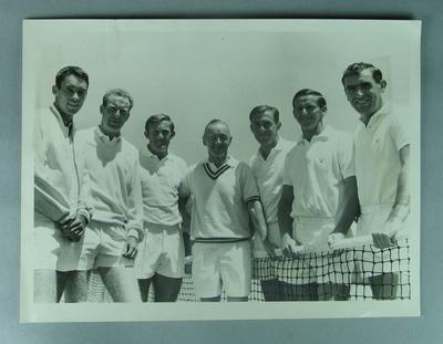Black and white photo of the 1965 or 1966 Davis Cup Team