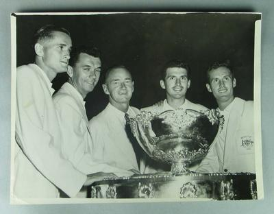 Black and white photograph of the 1957 Davis Cup Team