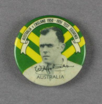 Badge, Bill Johnston c1950
