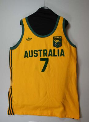 1980 Moscow Olympics - Australian Basketball Team (the Boomers) uniform worn by Larry Sengstock