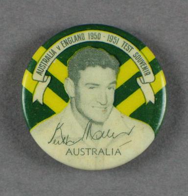 Badge, Keith Miller c1950