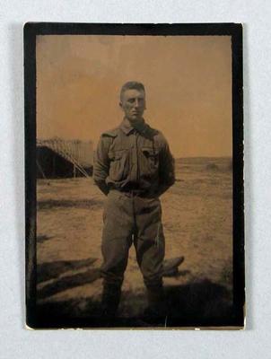 Photograph of Albert Park School cadet, c1915