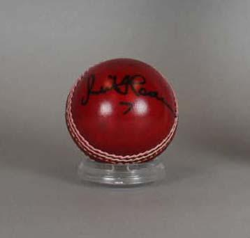 Cricket ball, signed by Sir Richard Hadlee