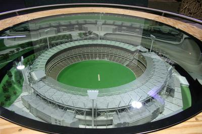 Three dimensional architectural model of the Melbourne Cricket Ground made by Inscale Pty Ltd