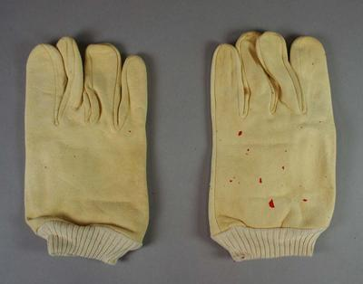 A pair of 1950s Lyre Bird Wicketkeeping Gloves with Inners, in original box, made by Nutting & Young
