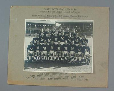 Photograph of 1954 VFL 2nd Eighteens, First Interstate Match v S.A. NFL 2nd Eighteens