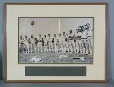 Photograph of 1968 World Championship Cricket players; Photography; 2007.569.1