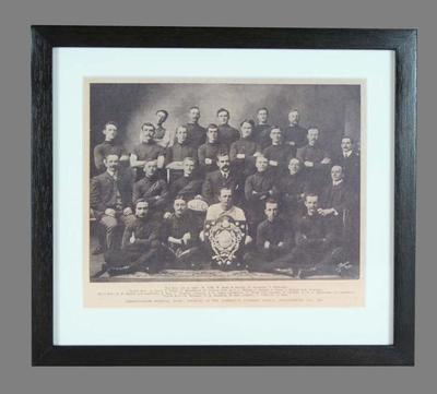 Facsimile newspaper photograph, Commonwealth Football Team 1905