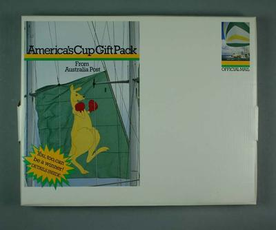 1987 America's Cup Souvenir Gift Pack - Book, Poster, Chart, Bookmark, Pamphlets