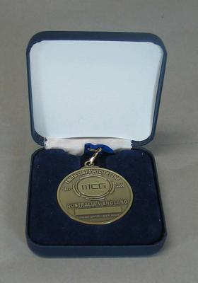 Commemorative medal, 100th Test Match at the MCG - Australia v England, Dec 2006