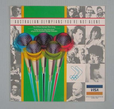 "Record cover, ""Australian Olympians: You're Not Alone"" - 1988 Olympic Games"
