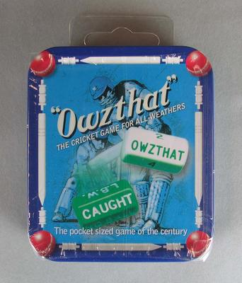 'Owzthat' game, unopened