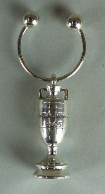 2005 Ashes silver keyring,