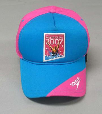 2007 FINA World Championships Volunteers cap; Clothing or accessories; 2008.150.1