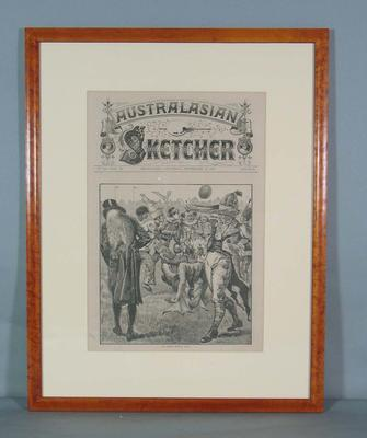 "Cover of the Australasian Sketcher, ""The Costume Football Match"" - 10 September 1881"