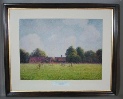 Colour photographic print - 'Hampton Court Green', by Camille Pissaro.