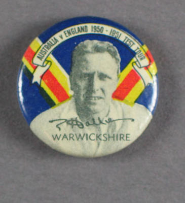 Badge, Eric Hollies c1950